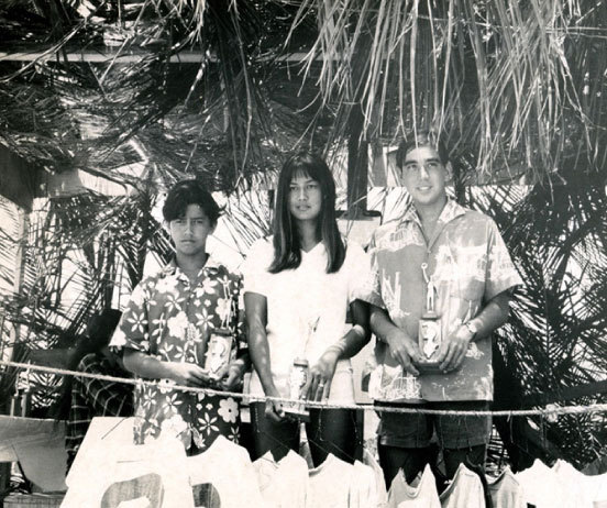 Hawaii State Surf Championships with Bon Ching and Rell Sunn |  David Darling | 1965