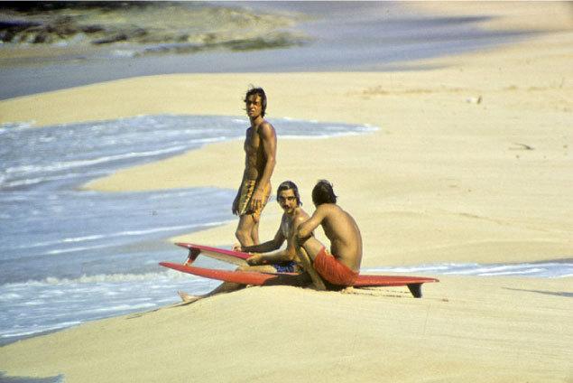 Sunset Beach, Herbie Fletcher and Barry Kanaiapuni  |  Jeff Divine  | 1971
