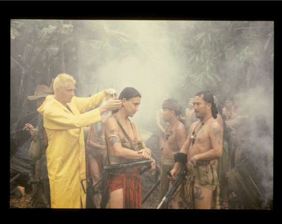 On the set of Farewell To The King, Borneo | 1987