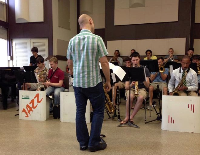 pictured: rehearsing w/the Frost Studio Jazz Band