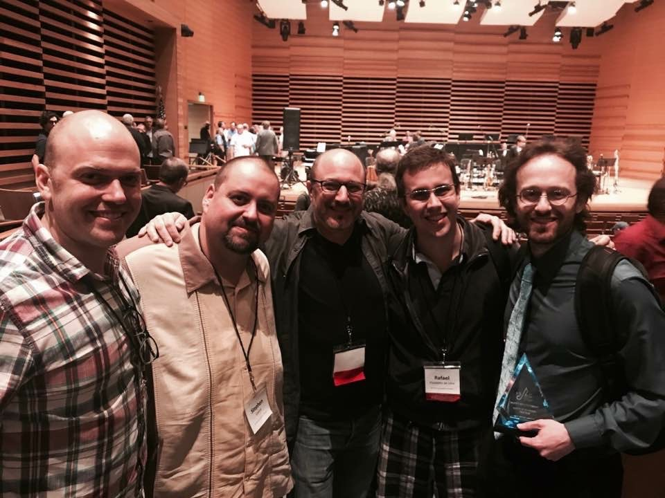 The Frost School Crew:Longo, Steve Guerra, Russ Spiegel, Rafael Piccolotto de Lima, &Scott Routenberg.