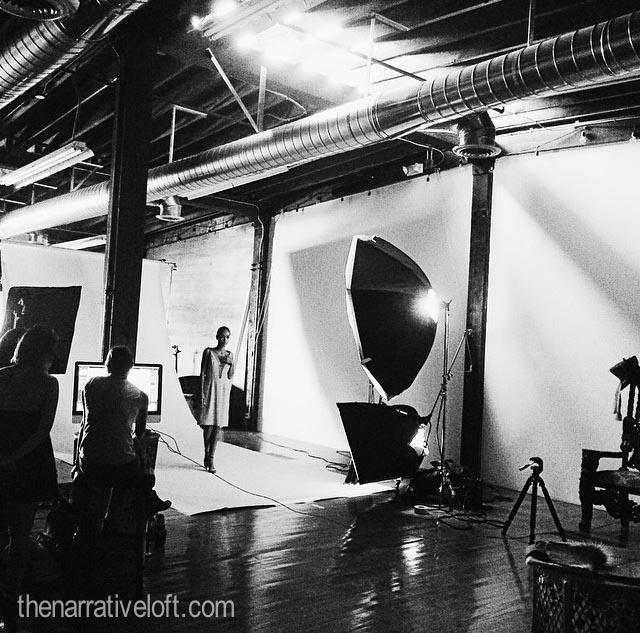 catherinegee photoshoot thenarrativeloft lights camera model fashio