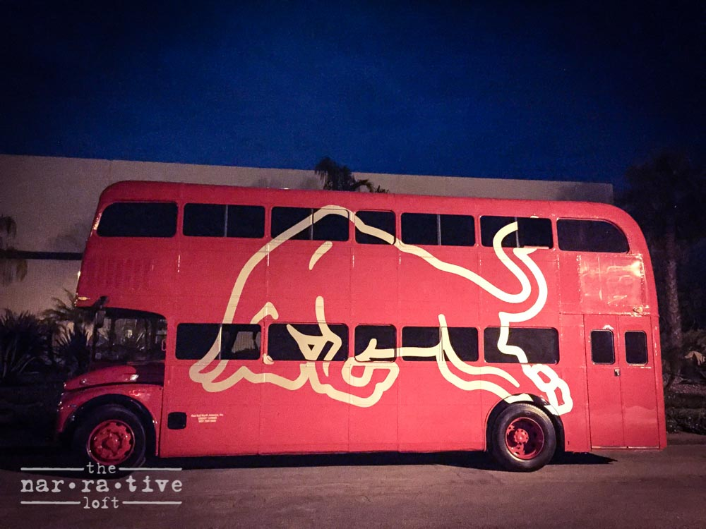 red bull athlete bus- gives you wings the narrative loft