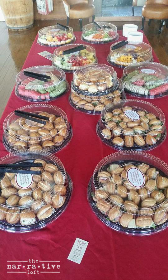 Yummy snacks catered by Jack's Bistro