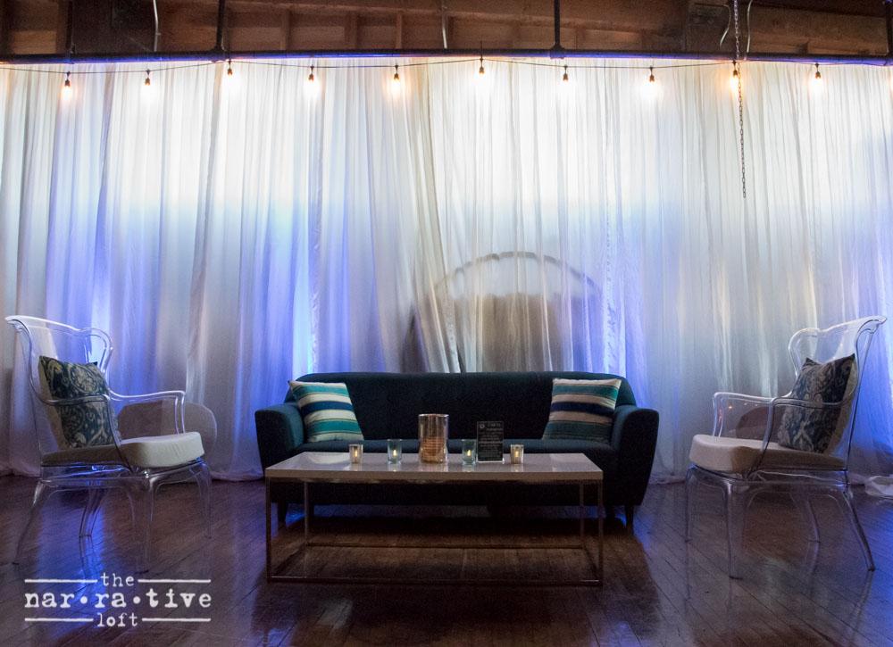 Blueprint Studios'gorgeous lounge setup.
