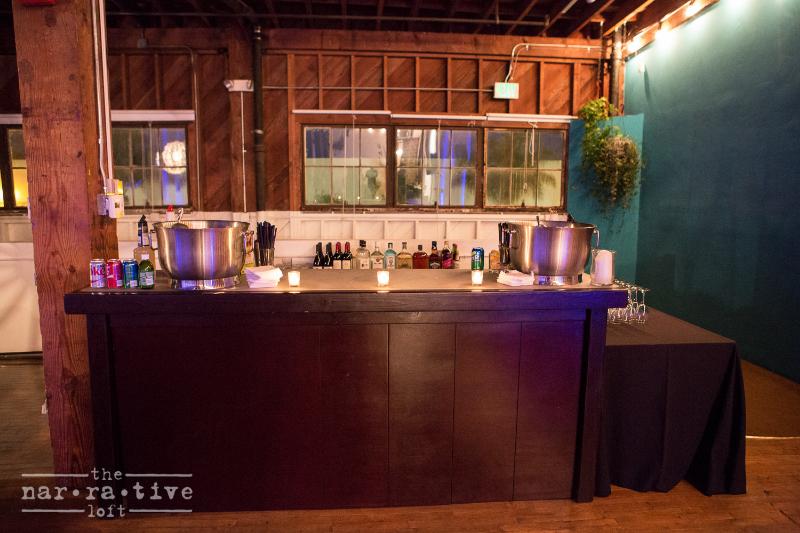 The bar setup!