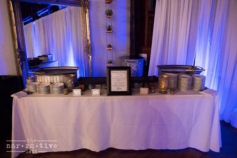 The quesadilla station from Omni Catering.