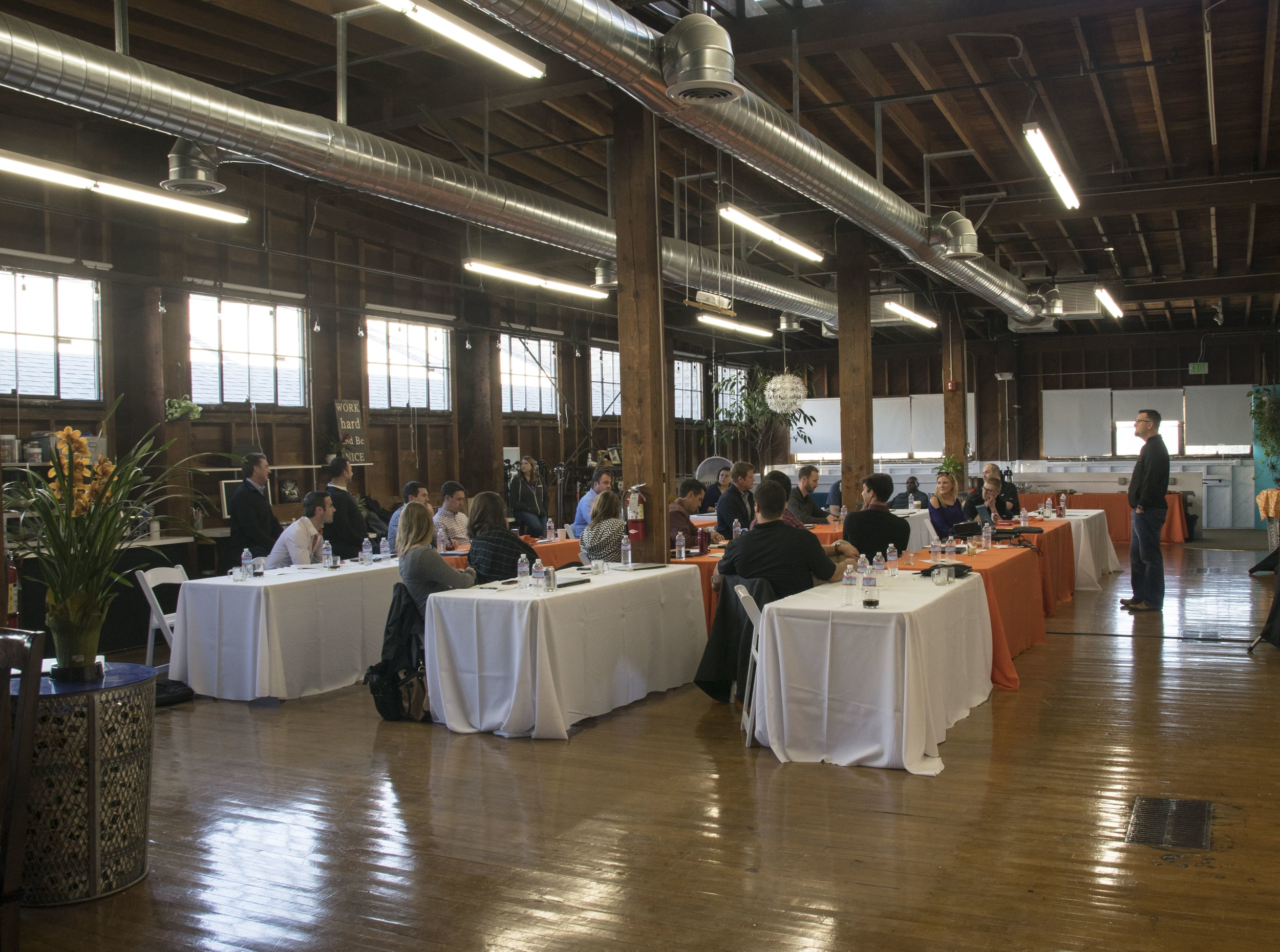 The loft was setup perfectly for this corporate workshop.