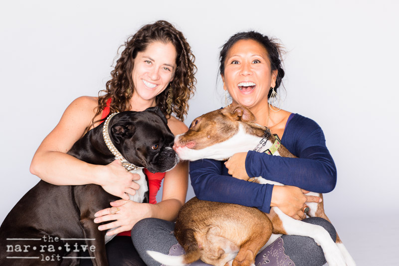 Tai and Michelle, The Narrative's owner, with their fur babies!