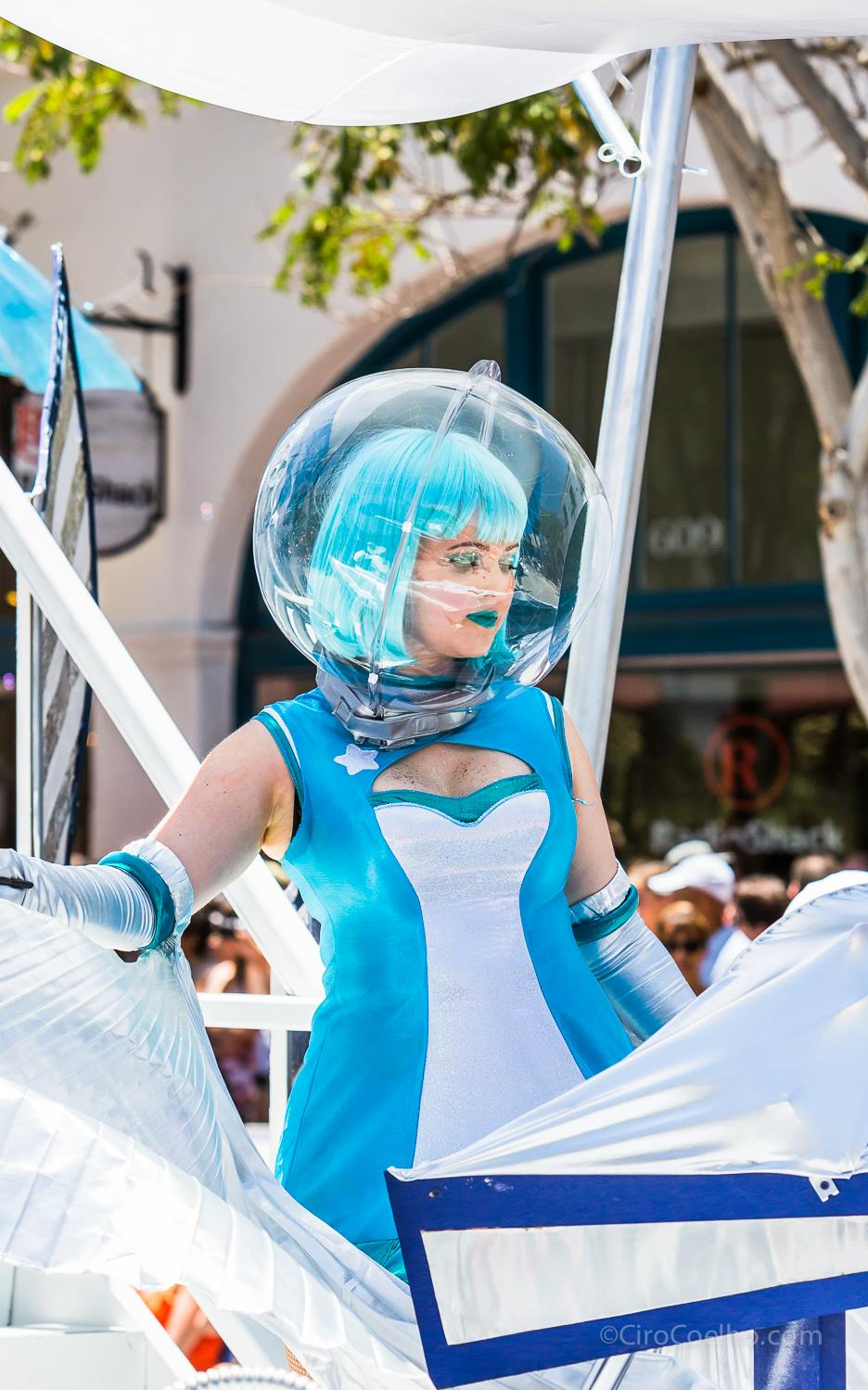 She was out of this world for the Summer Solstice Parade this year.