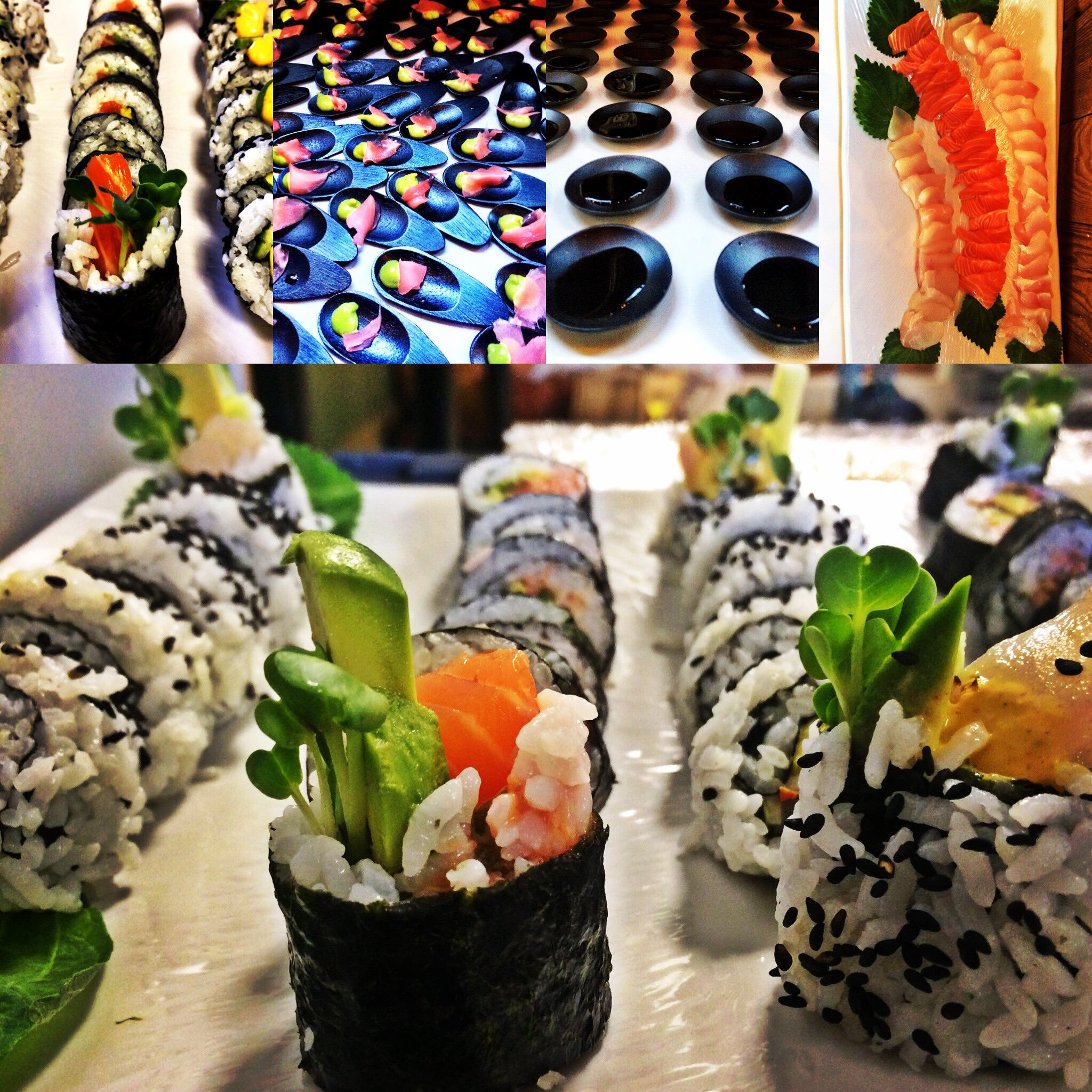 Delectable sushi sampler from Dining With Di.