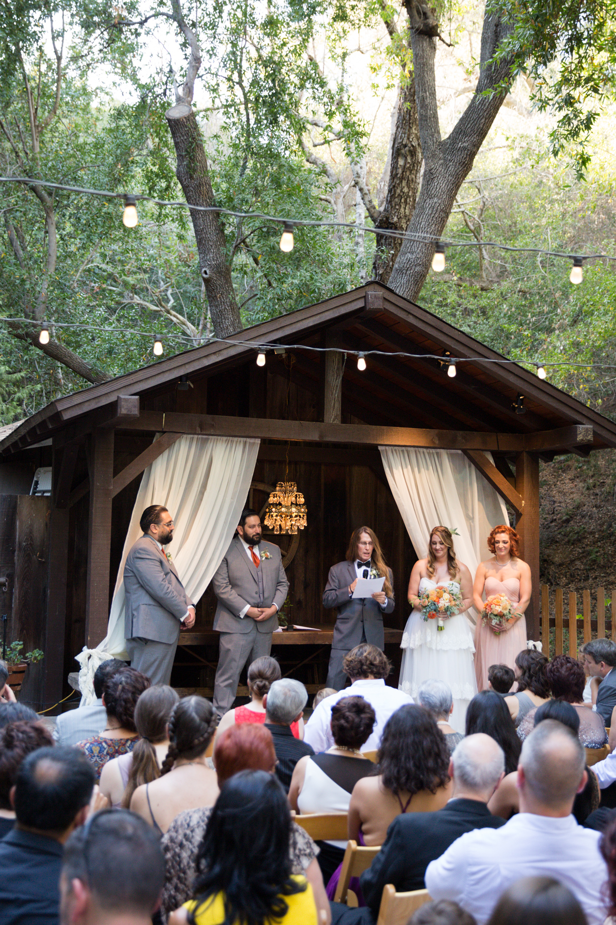 Becky Davis Photography  Saying I do nestled in nature with family and friends