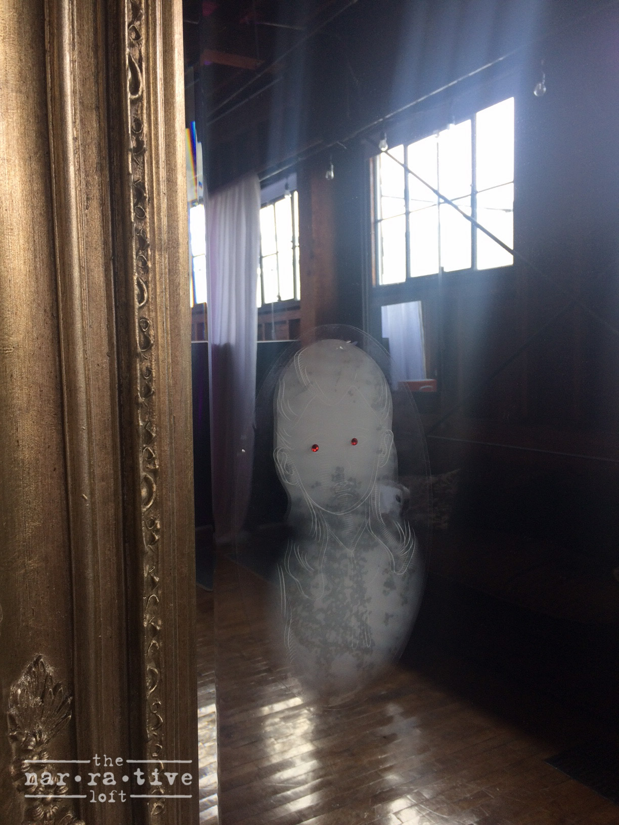 Spooky little details like these ghosts were haunting the loft.