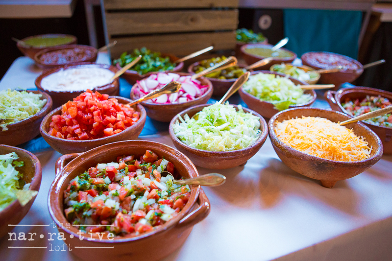 Endless toppings for yummy tacos!