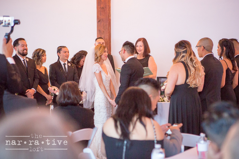 A beautiful exchange of vows!