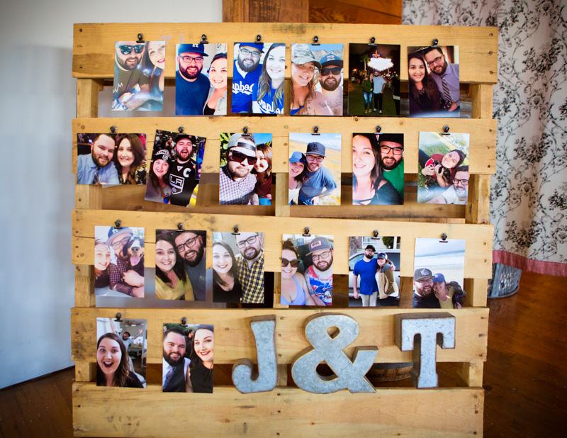 Great photo board idea!  Photo Credit: The Narrative Loft
