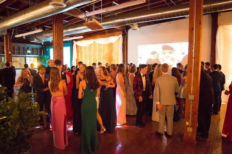 The graduates enjoying the dance floor.