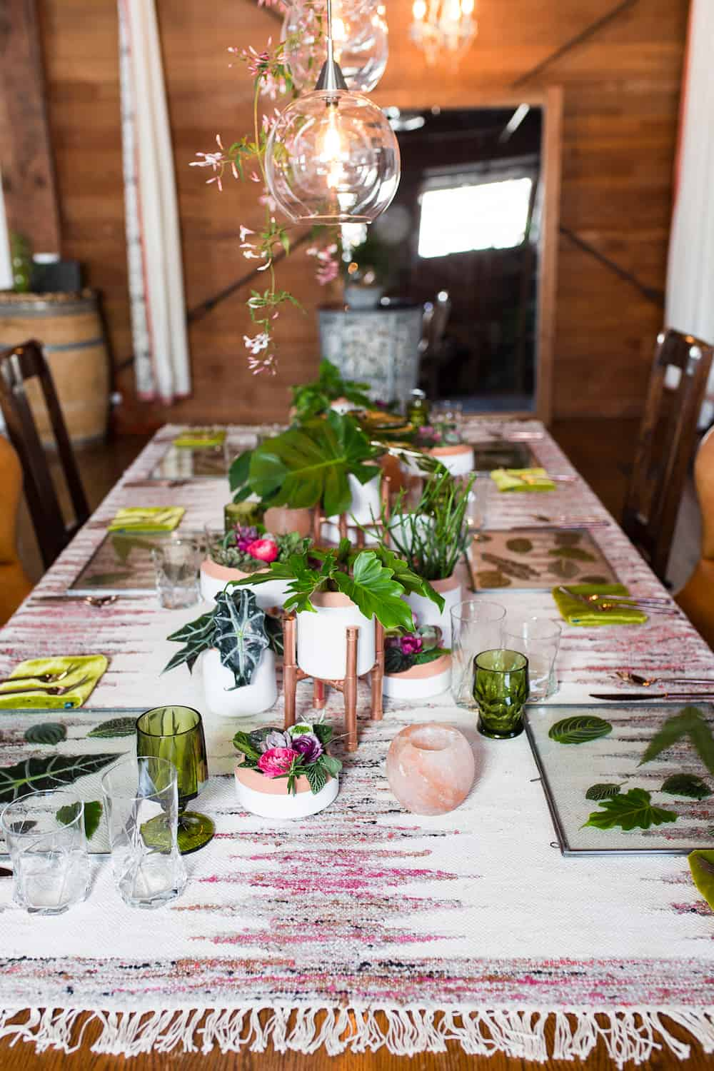 eccentric and eco friendly styled wedding