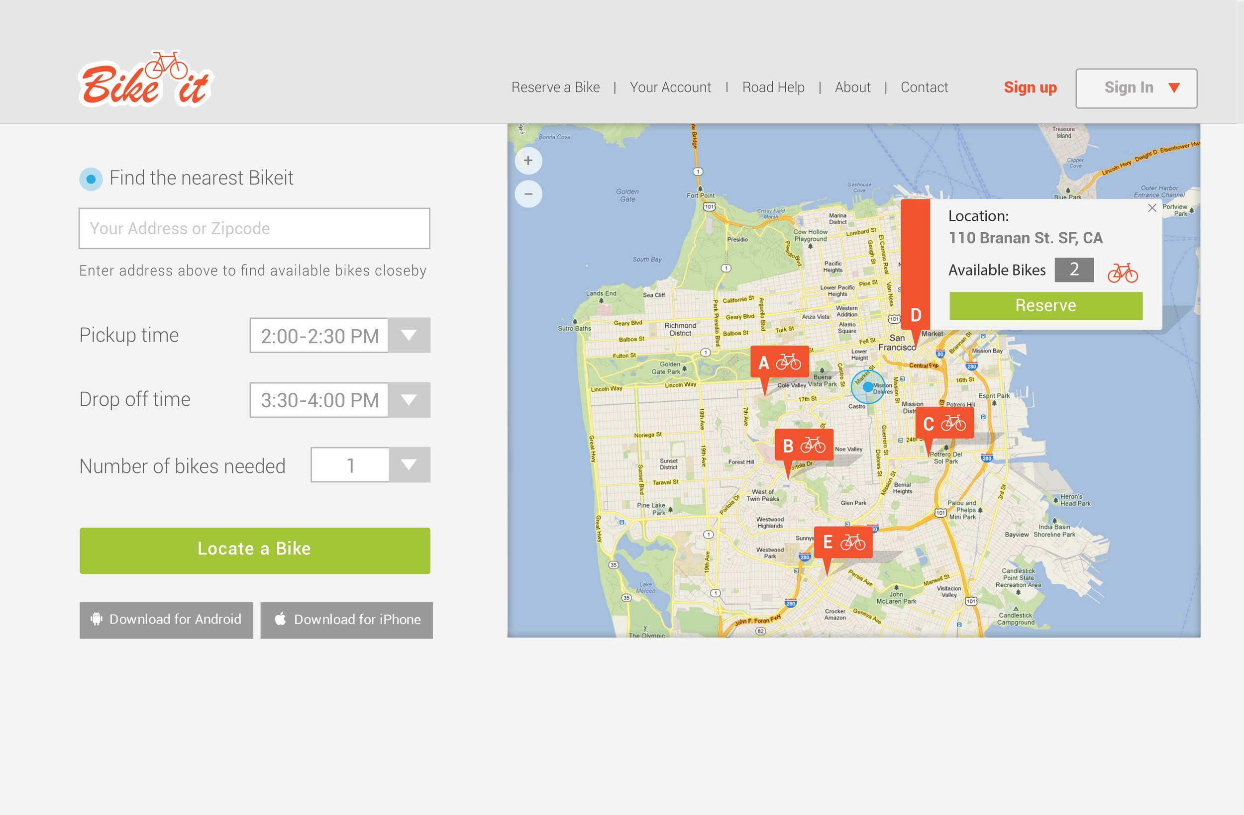 Website for BikeIt.