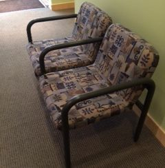 Dental Office Waiting Area Chairs - Before