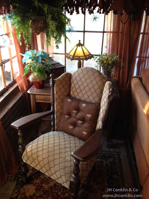 Arm chair refinished and upholstered in Pennsville, NJ