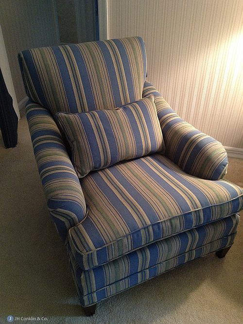 Reupholstered arm chair Haddonfield NJ