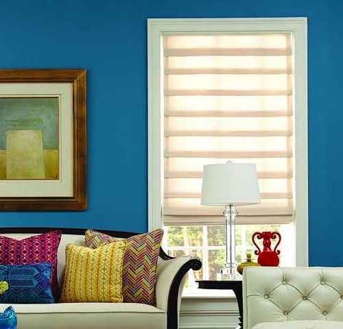 Standard hobbled Roman shade for New Jersey homes