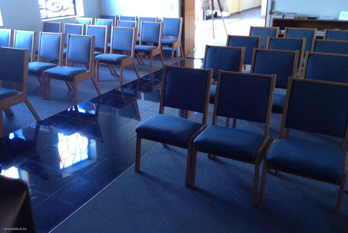 Reupholstered Chapel Seats