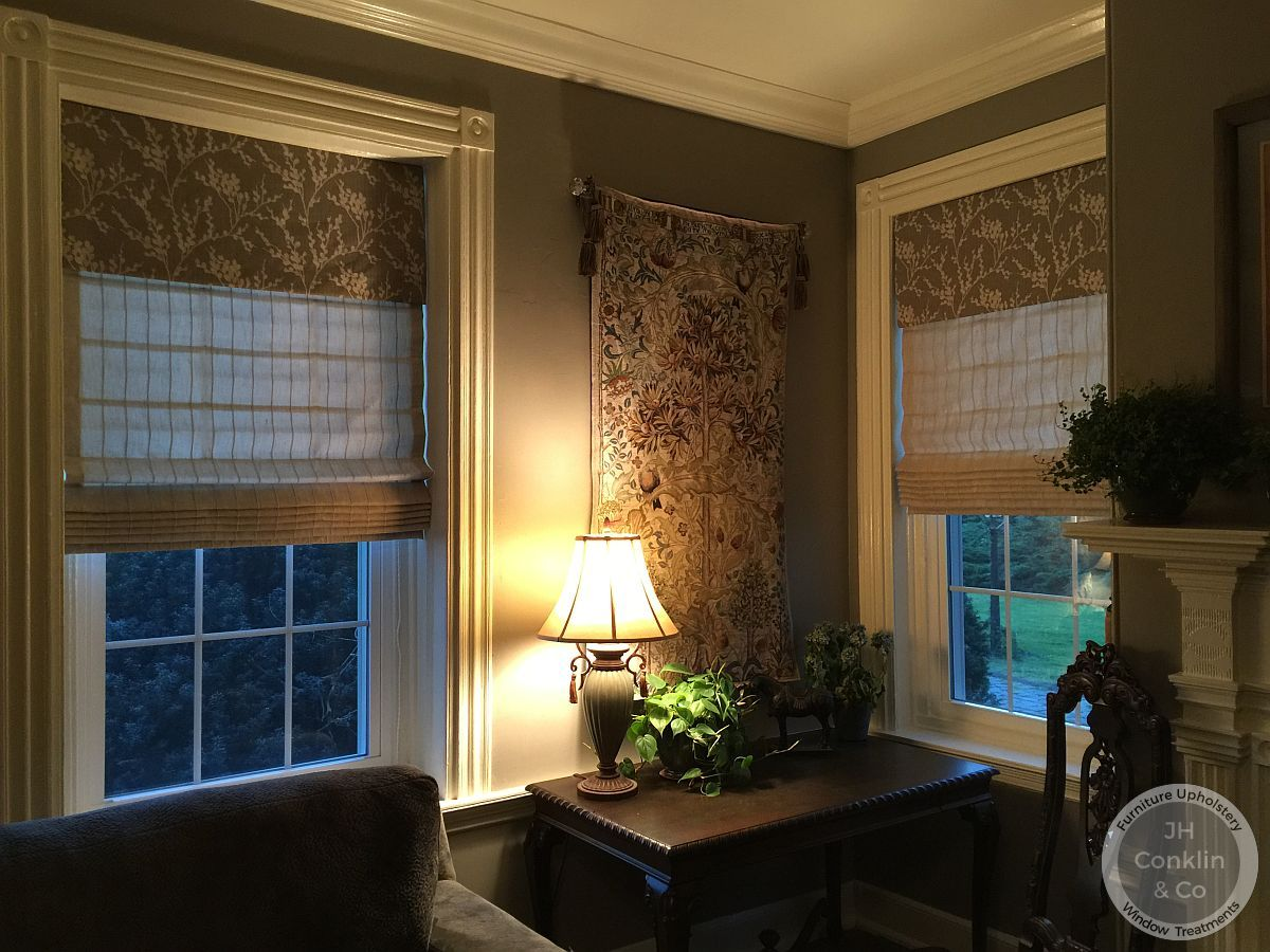 Flat Roman shade with attached valance in Mullica Hill NJ