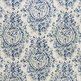 Roman shade fabric Carole Cavalcade royal