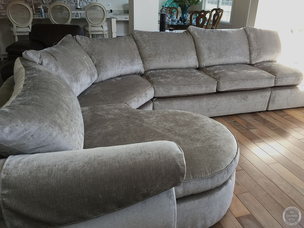 sectional sofa velvet fabric #NJupholstery