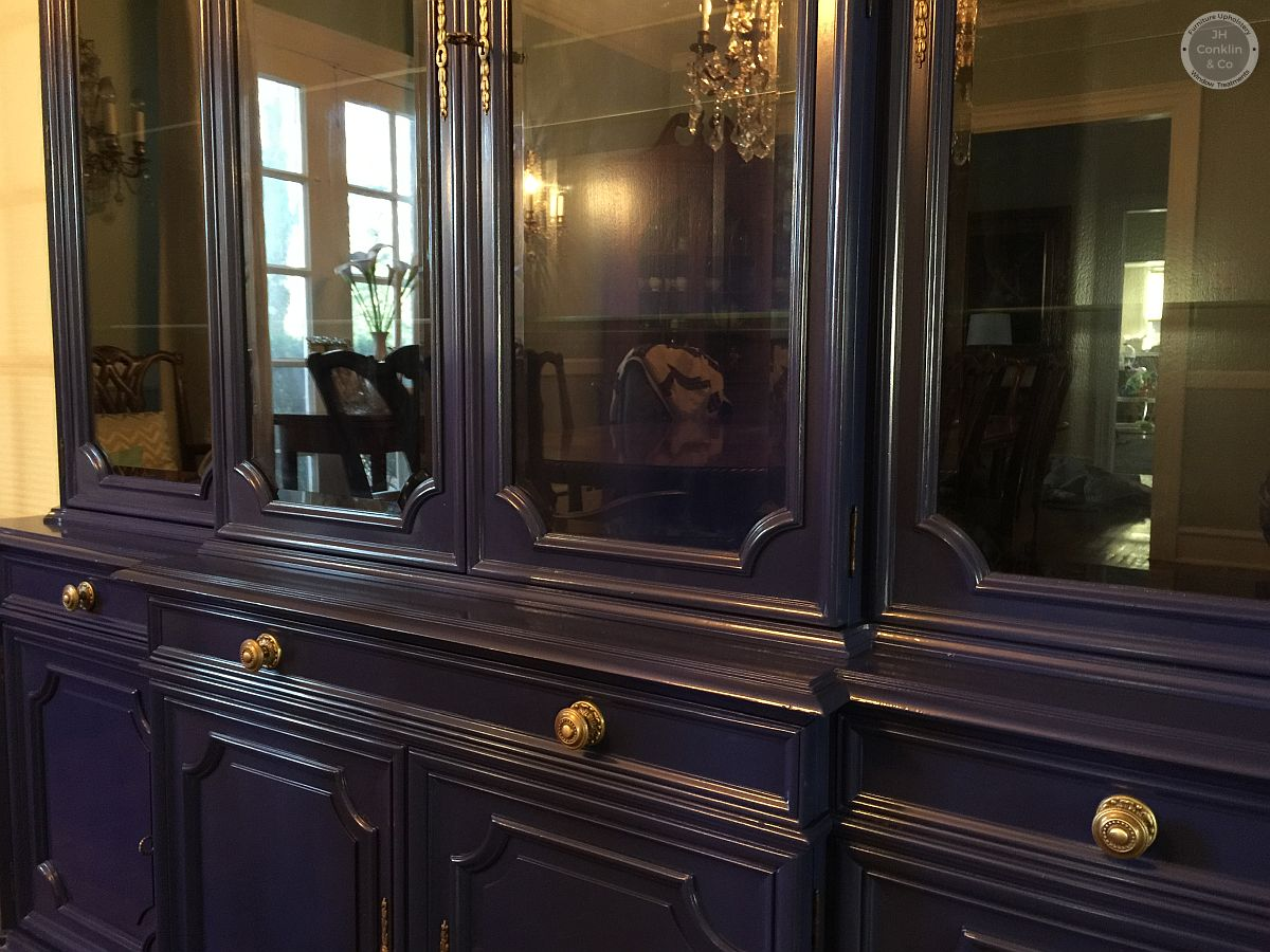 china hutch refinished colored lacquer nj
