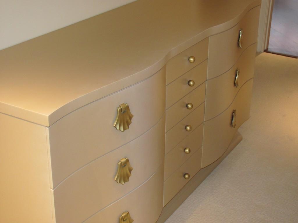 dresser refinished metallic new jersey shore