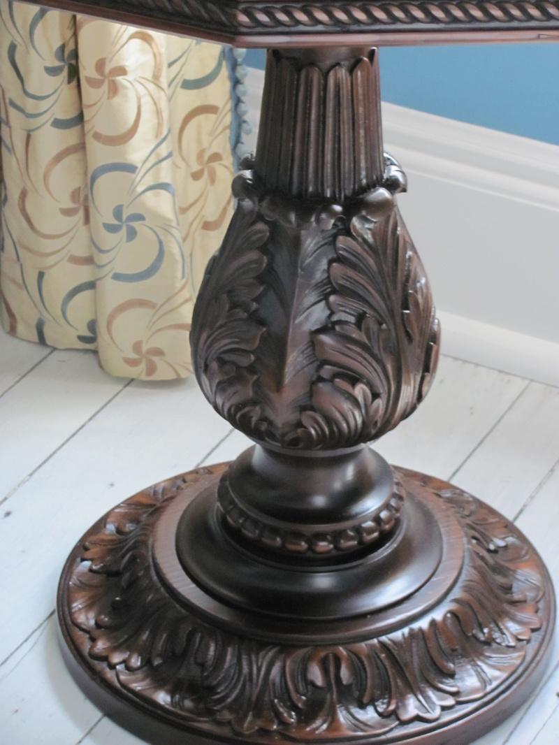 carved pedestal table refinished de