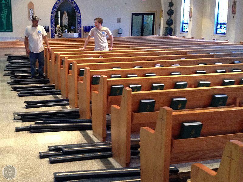 church kneeler pads upholstered nj