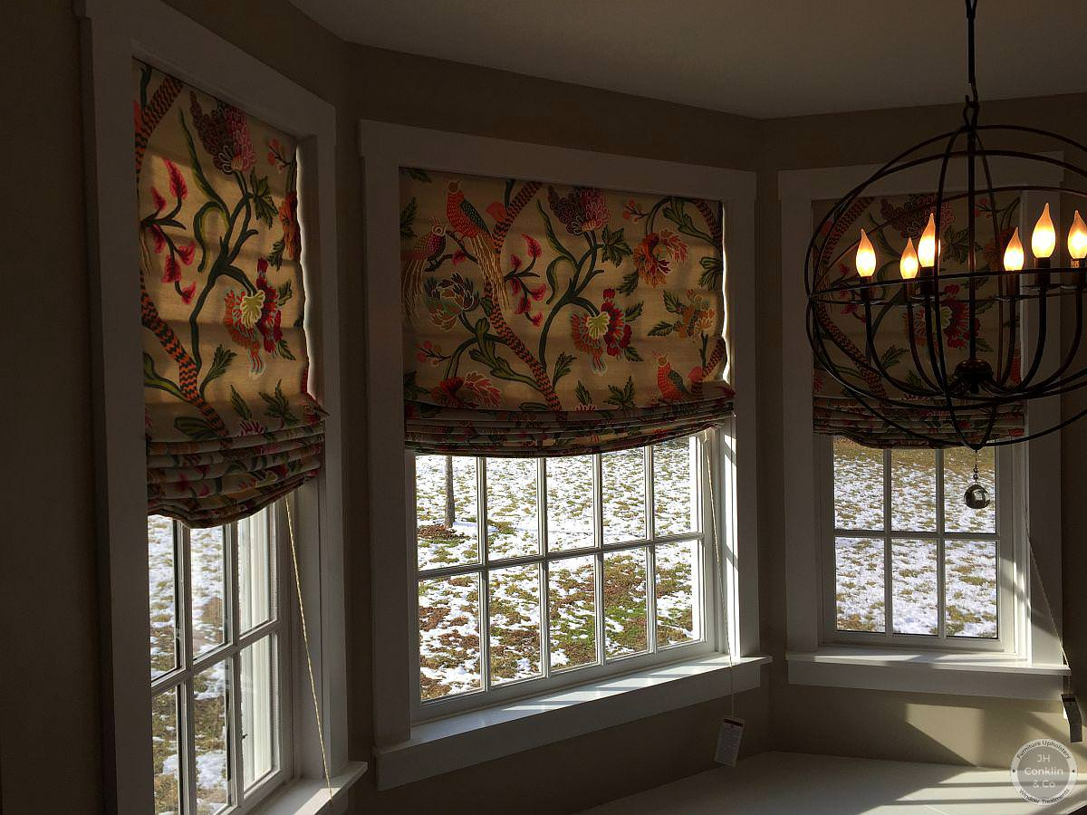 Custom relaxed Roman shades Marlton NJ