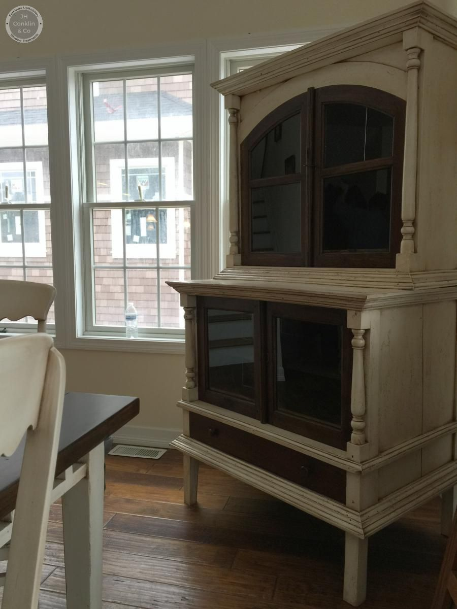 hutch refinished in stain and paint style in Harvey Cedars NJ