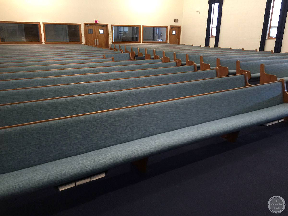 reupholstered church pews new jersey