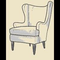 danish wing chair