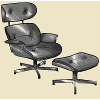eames chair with ottoman