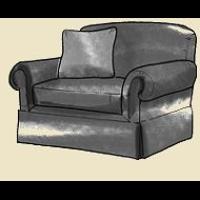 large arm chair skirted
