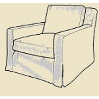 Skirted Accent Chair