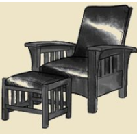 mission chair and ottoman