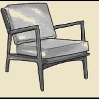open arm danish mid century modern chair