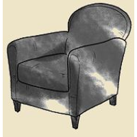 small french club chair