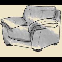 pillow top arm chair