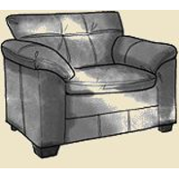 pillow top arm chair large