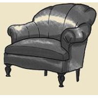 shell back arm chair