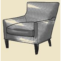square arm accent chair
