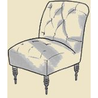 tufted slipper chair